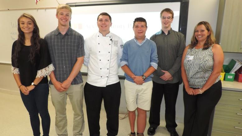 Chef Patrick Leeman with Kellam High School Students