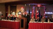 Columbia Campus President Jim Rund making a presentation at the South Carolina National Guard Leadership Conference