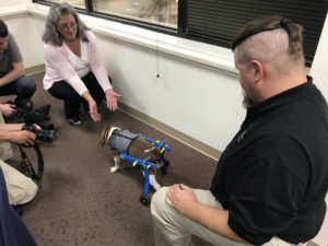 Mechanical Engineering Technology Students Make Prosthetic Leg for Dog