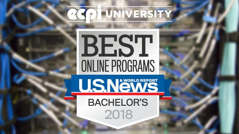 U.S. News & World Report Ranks ECPI University Online Bachelor's Programs Top 10 Percent